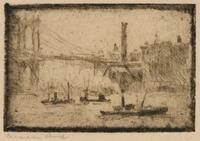 """No. 336  New York [Brücke u. Schornstein]"" - 'No. 336 New York [Bridge and Chimney]'"