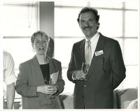 Tom Kowall and woman at event, circa 1986-1995.
