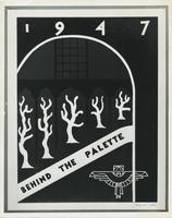 1947 behind the palette poster by Melvin Kero, VSB design, 1947.